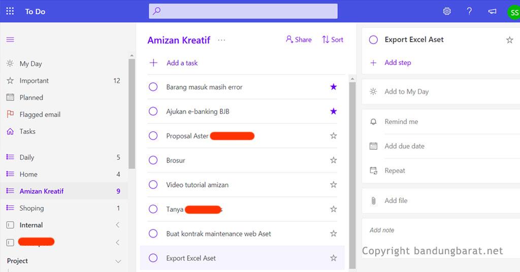 Aplikasi Produktivitas Microsoft To Do List